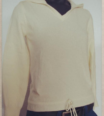 Benetton kötött, kapucnis gyapjú pulóver