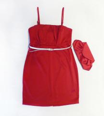 Piros ruha + kistáska