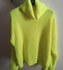 Neon sárga pulcsi L/XL vagy OneSize
