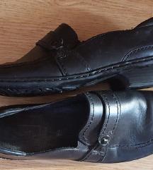 Fekete kényelmes valódi bőr cipő Anglia