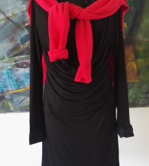 Benetton gyapjú kardigán + fekete francia ruha