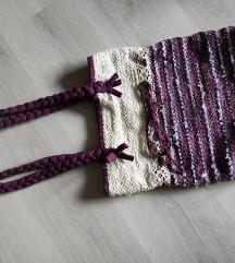 Lila kézműves táska