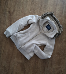 Bershka kapucnis pulóver - szörmével