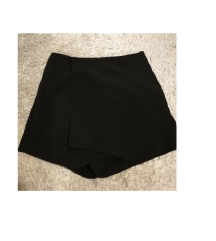 MANGO fekete átlapolt nadrág