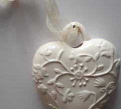 Szív alakú porcelándísz - csere vagy 300 Ft