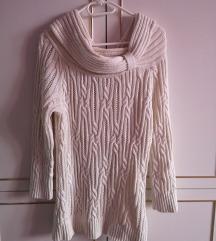 Fehér-arany kötött pulcsi