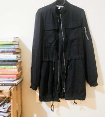 zara fekete kabát XS