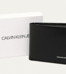 Vadi Új Calvin Klein Fekete Bőr Pénztárca