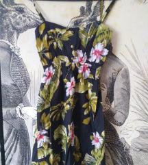 Virágos vintage nyári ruha 34/xs