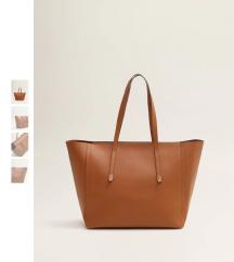 új, címkés barna mango táska