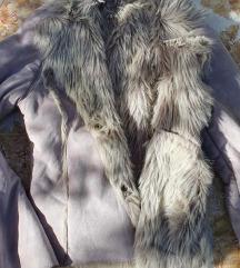 Szürke szőrmés kiskabát