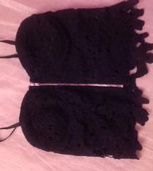 fekete csipkés crop top