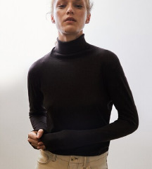 Massimo Dutti gyapjú-selyem garbó pulóver
