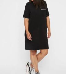 JUNAROSE fekete ruha 44-46-os méret