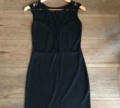 M/L-es fekete csipkés ruha