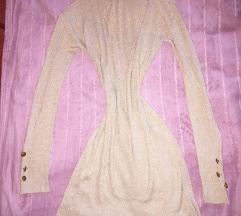 H&M aranyszálas garbós ruha