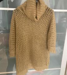 Benetton kötött barna meleg gyapjú pulóver M 38