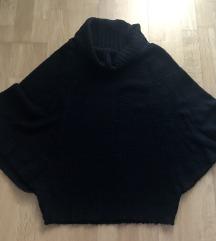Fekete poncsó pulóver