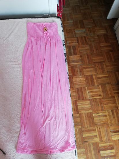 Rózsaszín hosszú ruha