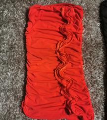 Alkalmi húzott tűzpiros ruha