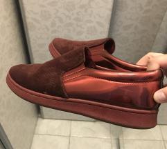 Bordó színű női cipő