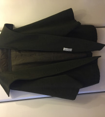 Max Mara olajzöld gyapjú kabát