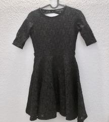 River Island fekete csipkés ruha