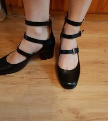 Montonelli fekete valódi bőr cipő 38 vadonatúj!