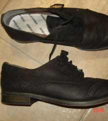 TAMARIS brogue fekete puha bőrcipő, újszerű,40