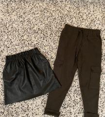 ZARA szoknya és kötött jogger nadrág
