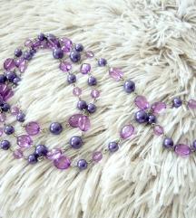 Gyönyörű újszerű lila bogyós többsoros nyaklánc ❤