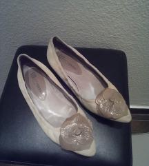 Nude balerina cipő hasítottbőr