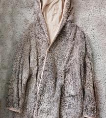 Kifordítható bunda/vászon kabát