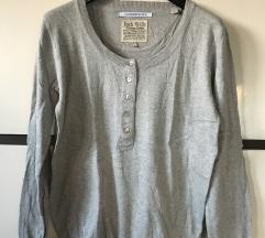 Jack Wills gombos szürke pulóver