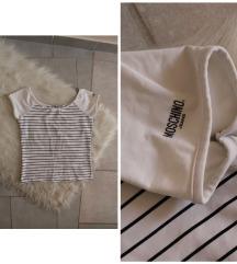Eredeti Moschino csíkos női póló