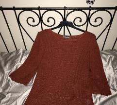 Rozsdaszínű kötött  pulcsi