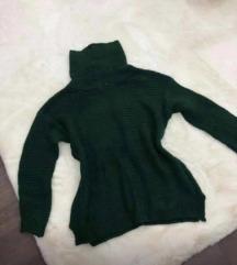 Zöld kötött garbo pulcsi