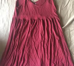 H&M bordó nyári ruha