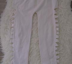 Fehér szaggatott leggings