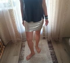 Zara bőr hatású felső, top M/L