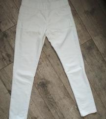 Fehér magasított derekú nadrág
