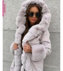 Tèli szőrmès parka kabát