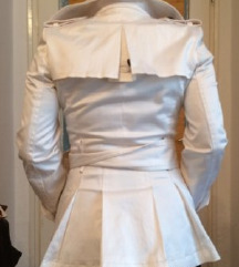 Zara fehér ballonkabát, trench coat