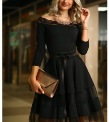 Mystic day tüll loknis fekete ruha