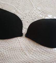 Új fekete öntapadós melltartó