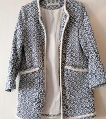 Zara őszi/tavaszi hímzett kabát