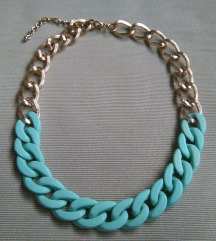 Menta-arany láncos nyaklánc