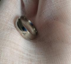 Stainless steel, köves gyűrű