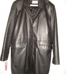 K I T fekete női bőrkabát UK14