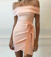 🎀 Új barackos-rózsaszínes ruha M-es 🎀